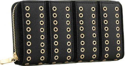Kelly-Black-eyelet-zip-purse-1